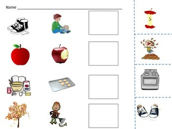 Sequencing Pictures Cut and Glue