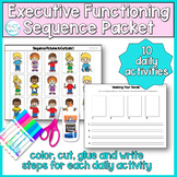 Sequencing Pictures Worksheets: Executive functioning, cutting and writing