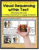 Sequencing Stories with Pictures and Text Task Cards For Special Education SET 1