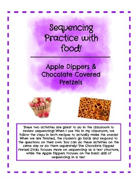 Sequencing Practice with Food!