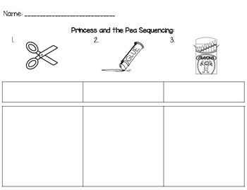 Sequencing - Princess and the Pea