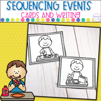 Sequencing Printables-  Everyday Events Pictures and Writing Templates