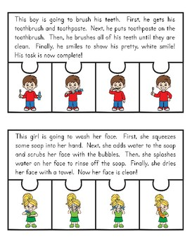 Sequencing Puzzles and Activities for Self Care