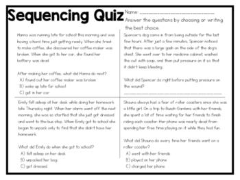 Sequencing Quiz