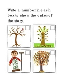 Sequencing Raking Leaves Following Directions Comprehensio