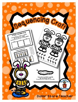 Sequencing Reader Mat & Craft Page - Bonnie Bunny Jumps in a Puddle