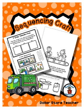 Sequencing Reader Mat & Craft Page - Recycle Process - Earth Day - Helpers