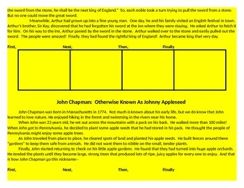 Sequencing Reading Activity Passages
