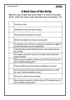 Sequencing Reading Comprehension Bundle - Posters, Organisers, Worksheets
