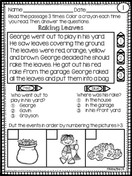 Sequencing Reading Passages for Young Readers