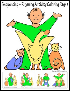 Sequencing+Rhyming Activity Coloring Pages