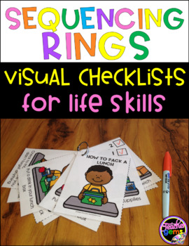 Sequencing Rings with Visual Checklists for Life Skills