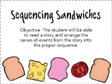 Sequencing Sandwich Activities and Worksheets