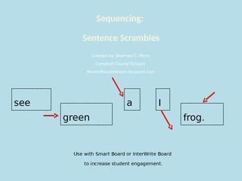 Sequencing: Sentence Scramble (Fully Editable) (2013 Readi