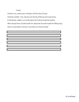 Sequencing Sentence Strips