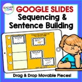 Google Classroom Activities | WRITING SENTENCES | SEQUENCING