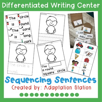 Sequencing Sentences Writing Center for Special Education