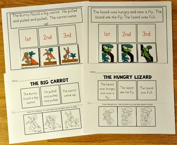 SequencingActivities:  Sequencing Mats and Worksheets Mini-Bundle