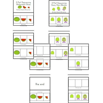 Simple 3 Part Sequencing Adapted Books  for Autism (Set 3)