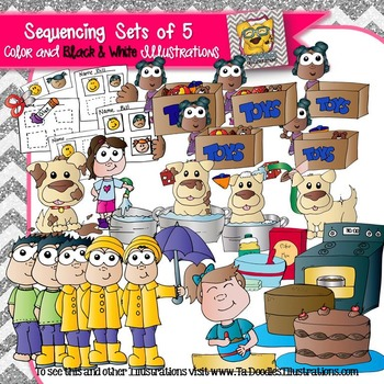 Sequencing Sets of 5 Clip art