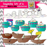 Sequencing Sets of 6 Clip art
