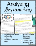 Sequencing Reading Passages & Questions - Printable & Goog