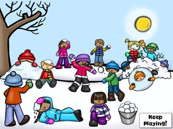No Print Sequencing Snowball Fight Game