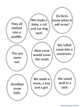 """Sequencing """"Snowballs"""" by Lois Ehlert"""