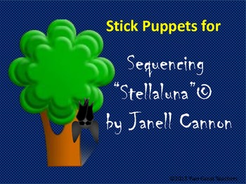 "Sequencing ""Stellaluna"" Stick Puppets"