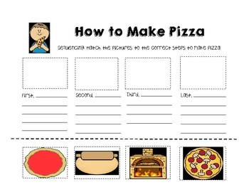 Sequencing; Steps to making a pizza