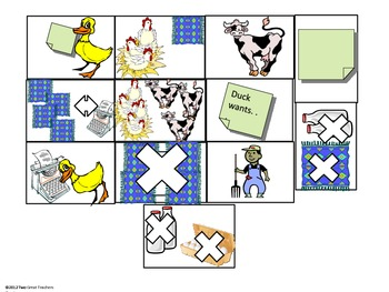 """Sequencing Stick Puppets for """"Click Clack Moo"""""""