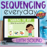 Sequencing Stories | Boom Cards Speech Therapy Distance Learning