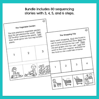 Sequencing Stories Bundle 1 - 3, 4 & 5 Step Sequencing Stories