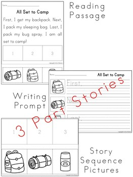 Sequencing Stories ~ Camping