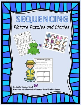 Sequencing Stories - Comprehension - RTI - Reading