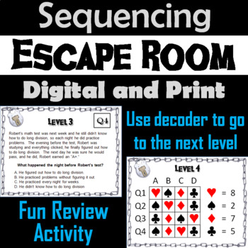 Sequencing Stories Escape Room - ELA
