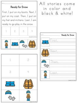 Sequencing Stories ~ First, Next, Then, Last {Set 1}