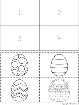 Sequencing Stories ~ Painting Easter Eggs