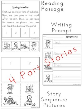 Sequencing Stories ~ Spring Activities