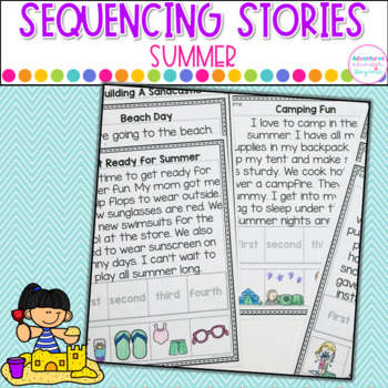 Sequencing Stories- Summer Themed