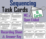 Sequencing Stories Task Cards 3rd 4th 5th Grade Sequence of Events Activity