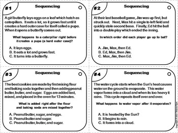 Sequencing Stories Task Cards: Remote Learning ELA (Distance Learning)