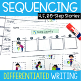 Sequencing Stories with Pictures 4, 5, and 6 Steps
