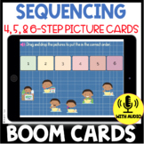 Sequencing Stories with Pictures BOOM CARDS 4, 5, and 6 Steps