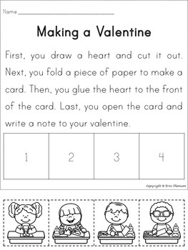Sequencing Story ~ Making a Valentine