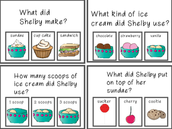 Shelby Makes a Sundae Sequencing Story
