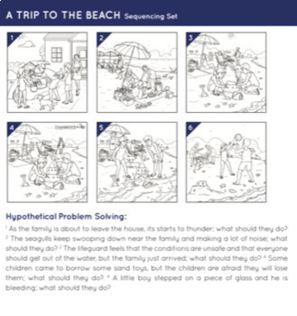 Sequencing Storytelling Cards-Beach Scenes
