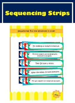 Sequencing Strips. English.