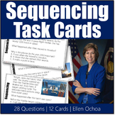 Sequencing Task Cards #1 Ellen Ochoa