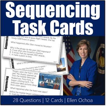 Sequencing Task Cards #1 Ellen Ochoa